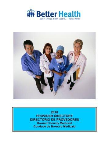 2010 provider directory directorio de provedores - Better Health ...