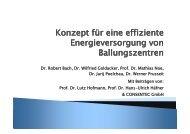 Konzept für eine effiziente Energieversorgung von Ballungszentren