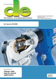 Der Elektro- und Gebäudetechniker de Special 8/2008 Tubular ...