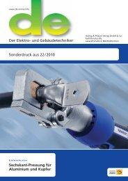 Sechskant-Pressung für Aluminium und Kupfer - Gustav Klauke GmbH