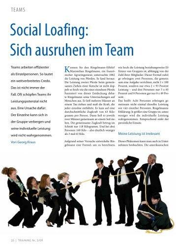 social Loafing: sich ausruhen im Team - Dr. Kraus & Partner