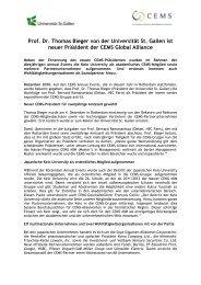 Prof. Dr. Thomas Bieger von der Universität St. Gallen ... - WiWi-Online