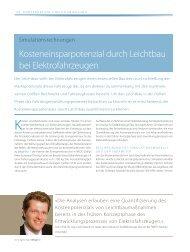Kosteneinsparpotenzial durch Leichtbau bei Elektrofahrzeugen (.pdf)