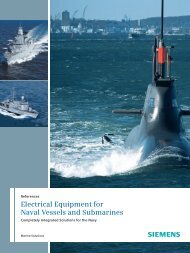 Electrical Equipment for Naval Vessels and Submarines - Siemens ...