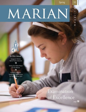 Examination of Excellence - Marian High School