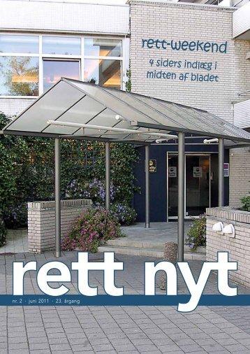 Rett Nyt 2 2011 - Landsforeningen Rett Syndrom