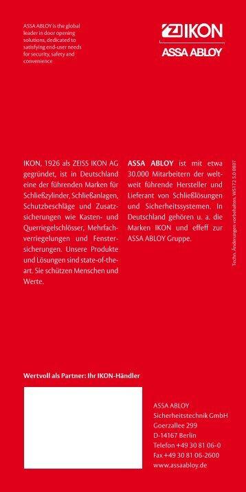 IKON, 1926 als ZEISS IKON AG gegründet, ist in Deutschland eine ...