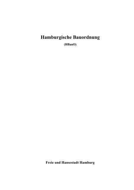 Hamburgische Bauordnung - UDS, Uwe Ungeheuer