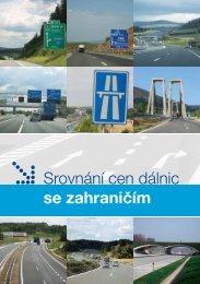 Srovnání cen dálnic se zahraničím - Ředitelství silnic a dálnic