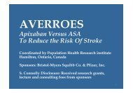 Apixaban Versus ASA To Reduce the Risk Of Stroke