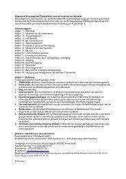 Algemene Voorwaarden Thuiswinkel voor de ... - BVA Auctions