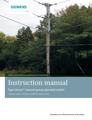 Group-Operated Switches Vector Series Instruction Manual - Siemens