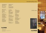 centralised lighting control - Lutron