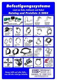 Katalog und Preisliste 5/2004 - HS-Befestigungssysteme