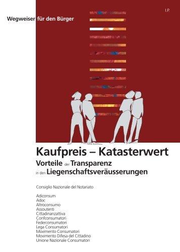 Kaufpreis-Katasterwert - Consiglio Nazionale del Notariato