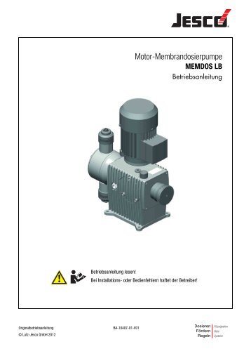 Motor-Membrandosierpumpe - Lutz-Jesco GmbH