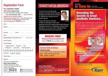 Dr Chris Ho brochure - Institute for Dental Implants