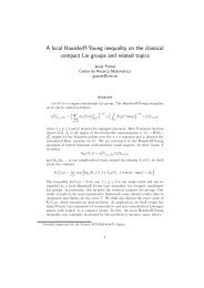 A local Hausdorff-Young inequality on the classical ... - ICMAT