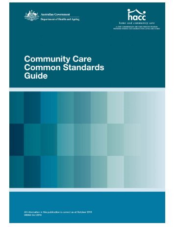 Community Care Common Standards Guide - Department of Health ...