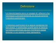 Interstiziopatie - Medicina e chirurgia