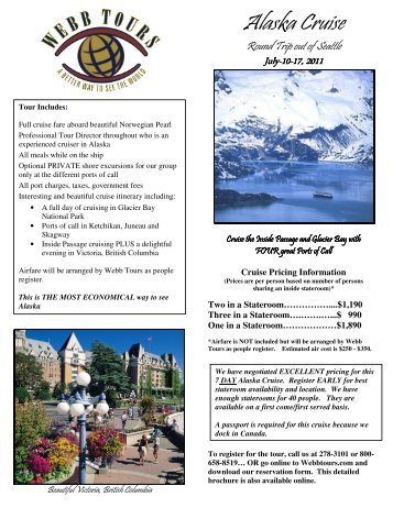 Alaska Cruise - Webb Tours