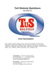 TuS Holstein Quickborn von 1914 eV - TuS Holstein Fussball Jugend