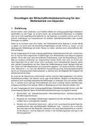 Grundlagen der Wirtschaftlichkeitsberechnung für den Weiterbetrieb ...