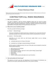 contractor's all risks insurance - Multi-Purpose Insurans Bhd