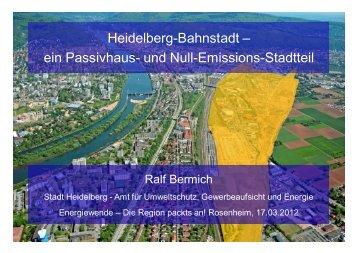 Heidelberg-Bahnstadt – ein Passivhaus- und Null-Emissions-Stadtteil