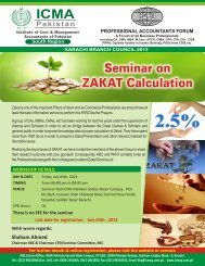 Seminar on Zakat Calculation - Institute of Cost and Management ...