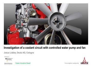 Investigation of a Coolant Circuit with Controlled Water Pump and Fan