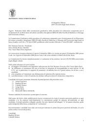 Relazione finale de - Unisi.it - Università degli Studi di Siena