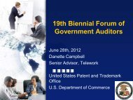Danette.campbell@uspto - Intergovernmental Audit Forums