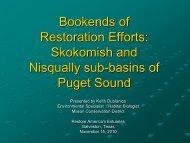 Skokomish and Nisqually sub-basins of Puget Sound - Restore ...