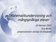 Matematikens kulturhistoria - Pedagog Stockholm