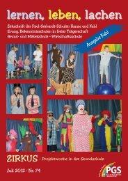 Schulzeitung Nr. 74 (07/2012) - Paul-Gerhardt-Schule Kahl