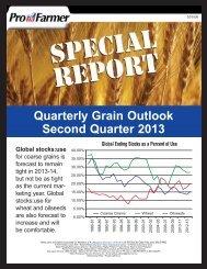 Quarterly Grain Outlook Second Quarter 2013 - AgWeb