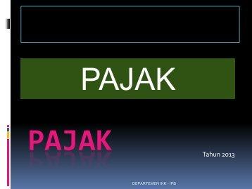 Chapter 5: Pajak (2013) - Departemen Ilmu Keluarga dan ...