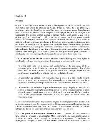 Capítulo 14 Pós-cura O grau de interligação das resinas curadas a ...