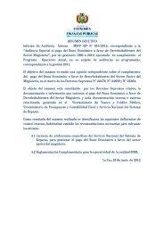 RESUMEN EJECUTIVO Informe de Auditoría Interna MEFP AIP N ...