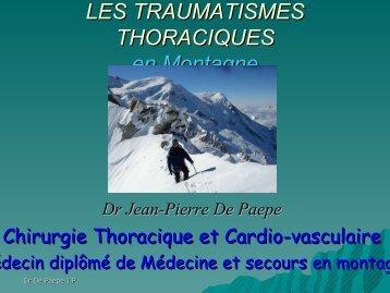 Traumatisme Thoracique , Dr Jean Pierre De Paepe - Secours ...