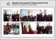 Winalite International Trading India Pvt.Ltd Kollam Event speaker Mr ...