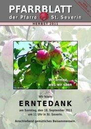 Pfarrblatt Herbst 2011 - Pfarrzentrum St.Severin