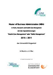 Master of Business Administration (MBA) 2010 / 2011