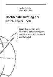 Hochschulmarketing bei Bosch Power Tools - SIBE