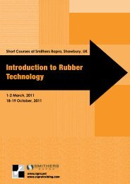 Introduction to Rubber Technology - Smithers Rapra