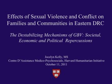 Effects of Sexual Violence and Conflict on Families and ...