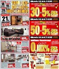 30% rabatt plus 5% jubiläums-rabatt auf möbel ... - Weser Wohnwelt