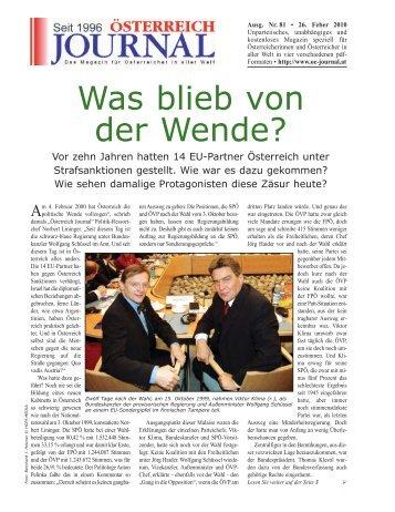 Was blieb von der Wende? - Österreich Journal