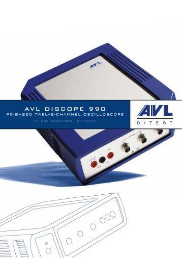 AVL DiScope 990 Product Brochure - AVL DiTEST